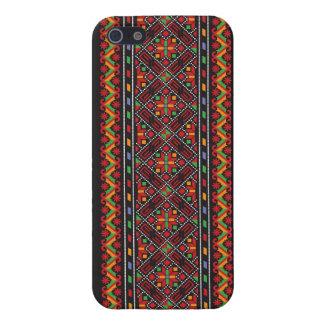 Arte decorativo de la puntada cruzada ucraniana iPhone 5 protector