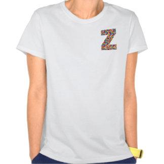 ARTE decorativo del ALFABETO en zzz del zz de la r Camiseta