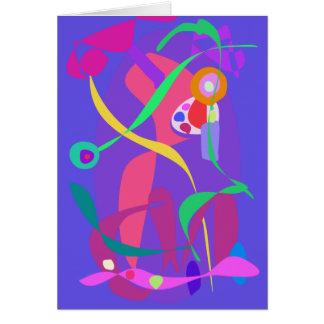 Arte decorativo tarjeta de felicitación