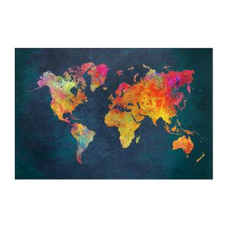 arte del acrílico del mapa del mundo
