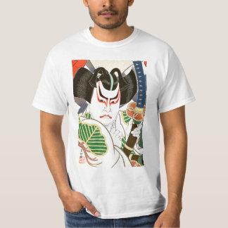 Arte del actor de Kabuki del japonés por el 名取春仙 Camiseta