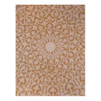 Arte del adorno geométrico del extracto de los postal
