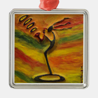 Arte del africano negro de Ornaments_ del metal de Ornamento Para Reyes Magos