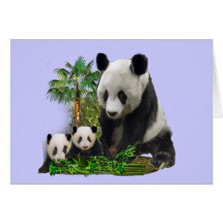 Arte del amor de la panda felicitación