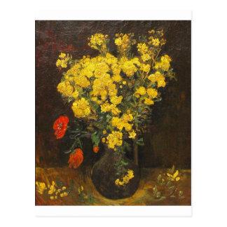 Arte del amor de la paz del florero de los flores  postal