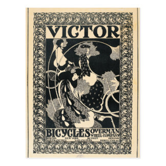 Arte del anuncio de la bicicleta de Nouveau del Postal