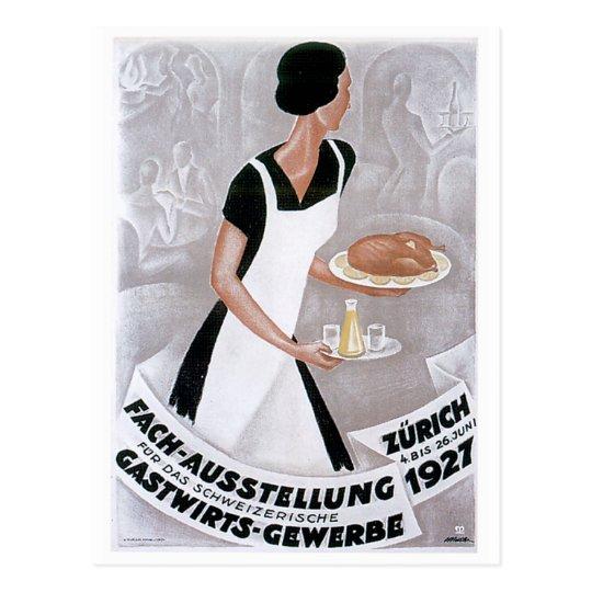 Arte del anuncio de la comida del vintage de Fach Postal