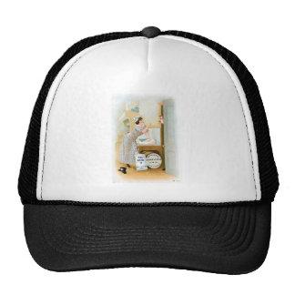 Arte del anuncio de la comida del vintage de la pa gorras de camionero