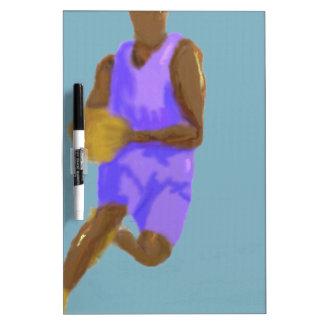 Arte del baloncesto pizarra blanca
