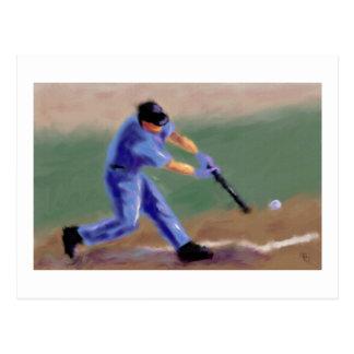 Arte del bateador del béisbol postal
