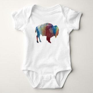 Arte del bisonte body para bebé