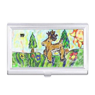 Arte del bosque de los ciervos cajas de tarjetas de negocios