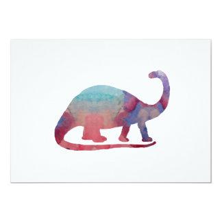 Arte del Brontosaurus Invitación 12,7 X 17,8 Cm