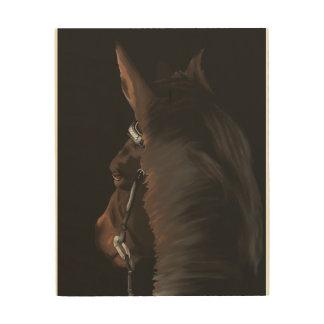 Arte del caballo en la madera
