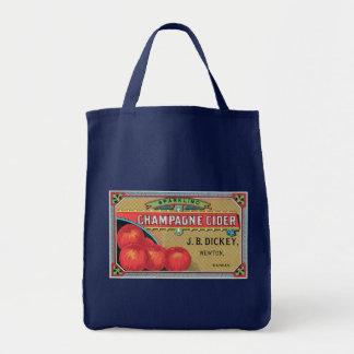 Arte del cajón de Apple del vintage de la sidra de Bolsa Tela Para La Compra
