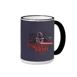 Arte del carácter de Darth Vader Taza De Dos Colores