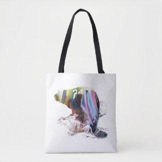 Arte del castor bolso de tela
