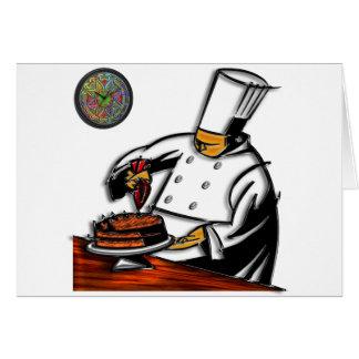 Arte del chef de repostería tarjeta de felicitación