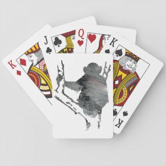 arte del chimpancé barajas de cartas