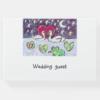 arte del cisne libro de invitados
