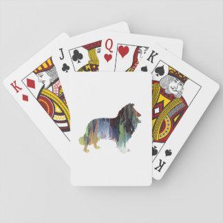 Arte del collie barajas de cartas