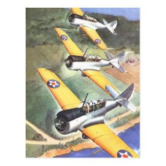 Arte del color del aeroplano de la aviación del postal