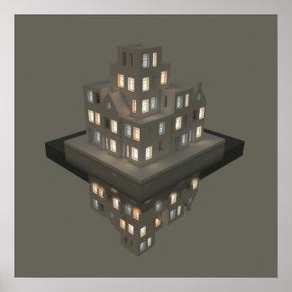 Arte del concepto de la arquitectura de las