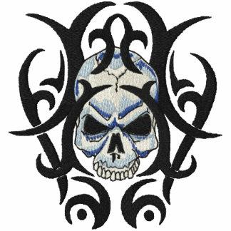 Arte del cráneo polo bordado