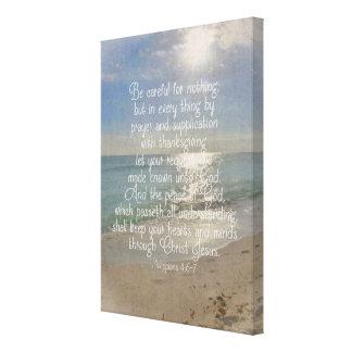 Arte del cristiano de la playa del verso de la
