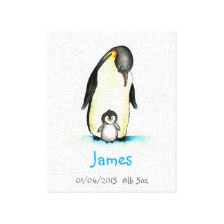 Arte del cuarto de niños con el pingüino -