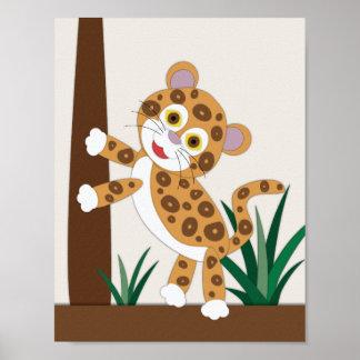 Póster Arte del cuarto de niños de Jaguar