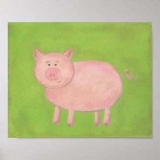 Arte del cuarto de niños del cerdo de la conferenc impresiones