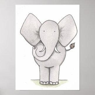 Arte del cuarto de niños del elefante