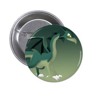 Arte del dibujo animado de la fantasía del dragón chapa redonda 5 cm