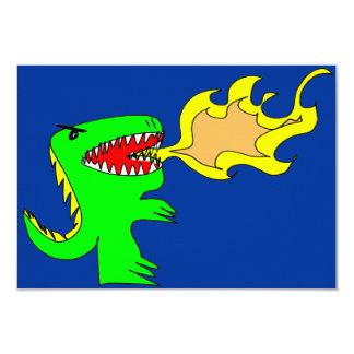 Arte del dinosaurio o del dragón por poco t + José Invitación 8,9 X 12,7 Cm