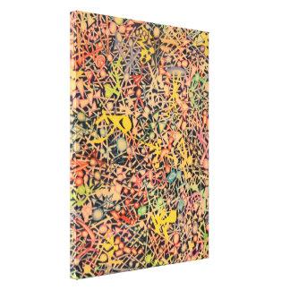 Arte del Doodle del lápiz del color Lienzo Envuelto Para Galerias