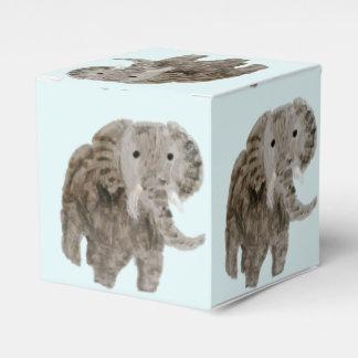 Arte del elefante del animal salvaje caja de regalos