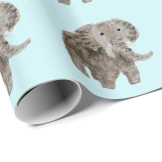Arte del elefante del animal salvaje papel de regalo