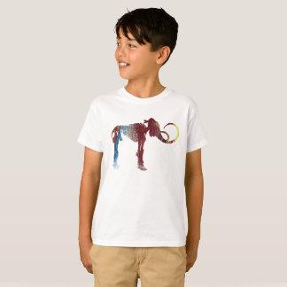 Arte del esqueleto del mamut lanoso camiseta