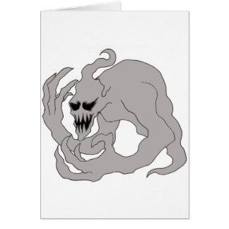 Arte del fantasma de Halloween Tarjeta De Felicitación
