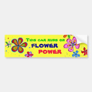Arte del flower power, pegatina para el