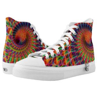 Arte del fractal, altos tops, zapatos de Zipz