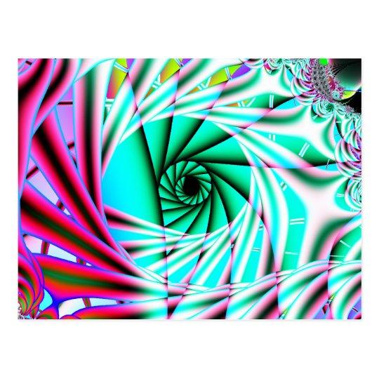 arte del fractal de la ecl3iptica 7 postal