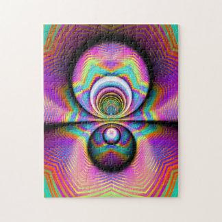 Arte del fractal el rompecabezas de la reflexión