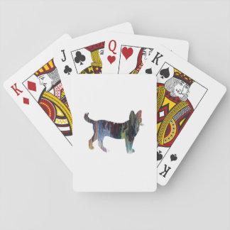 Arte del gato barajas de cartas