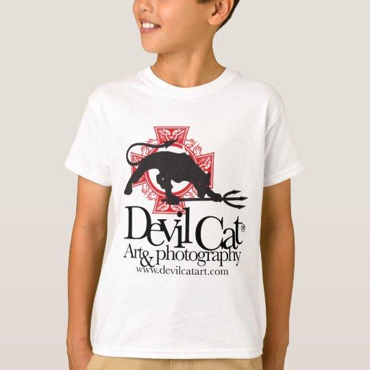 Arte del gato del diablo camiseta