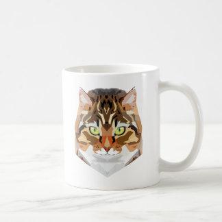 Arte del gato taza de café