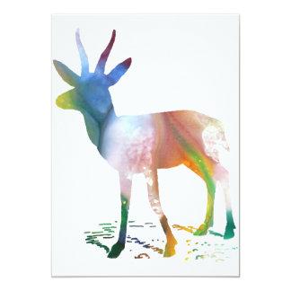Arte del Gazelle Invitación 12,7 X 17,8 Cm