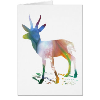 Arte del Gazelle Tarjeta