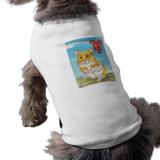 Arte del globo del hámster del oso de panda camiseta sin mangas para perro